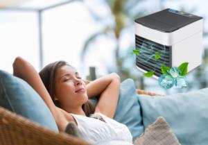 CoolWind dispositivo enfriador de aire, cómo usarlo, como funciona